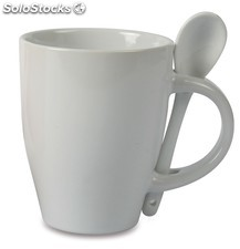 Taza Cucharilla Mug & Spoon blanco