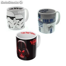 Taza de cerámica Star Wars Darth Vader con relieve