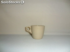 Taza De Melamina 200 Mls Color Beiges y Blanca