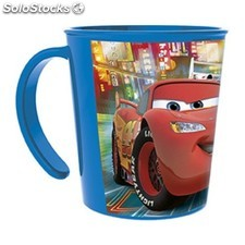 Taza de Plastico Cars Disney 360ml color rojo