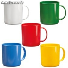 Taza de plástico Witar 400 ml disponible en 5 colores