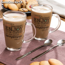 Taza Enjoy Your Coffee con Cucharilla (pack de 2)