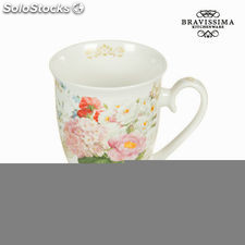 Taza flowers bouquet - Colección Kitchen's Deco by Bravissima Kitchen