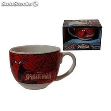 Taza Jumbo + Posavasos Spiderman Marvel