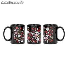 Taza kiss diamond black oficial de emoji