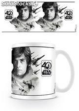 Taza Luke Skywalker (star wars 40th) 320ml