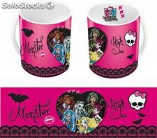 Taza monster high color rosa