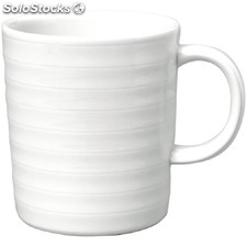 Taza mug intenzzo porcelana blanca 330ml