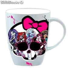 Taza Ovalada 5 Personajes Monster High