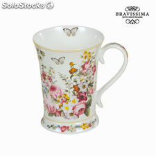 Taza porcelana bloom white - Colección Kitchen's Deco by Bravissima Kitchen