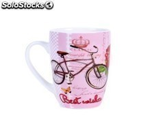 "Taza ""retro best wishes"" en caja de regalo Ref.0132663-sur"