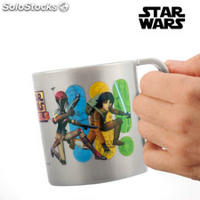 Taza Star Wars Rebels, capacidad de 350 ml, fabricada en PP, ideal para fans de