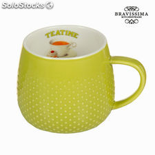 Taza tea time verde - Colección Kitchen's Deco by Bravissima Kitchen