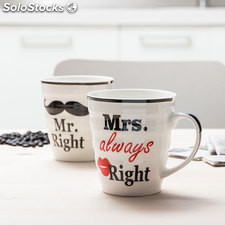 Tazas Mr. Right & Mrs. Always Right