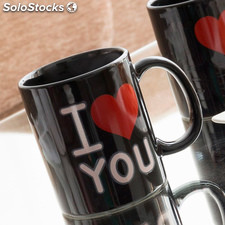 Tazza Magica Nera I Love You