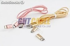 TC016 Type-c android USB3.1 Phone & Pad 2 in 1 Aluminum alloy woven nylon cable