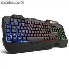 Teclado B-MOVE BG-TC05 gaming USB retroiluminado negro