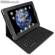 Teclado Bluetooth Funda de piel para el iPhone de Apple ipad2