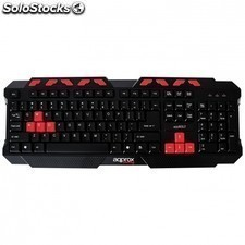 Teclado gaming APPROX appbolt - plug and play - 9 teclas multimedia - 8 teclas
