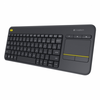 Teclado inalambrico logitech wireless touch keyboard k400 plus negro