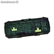 Teclado keep out Gaming F89 negro/verde