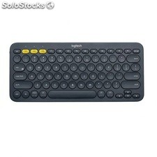Teclado logitech K380 bluetooth para tres dispositivos color black