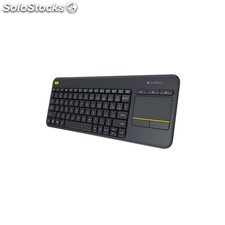 Teclado logitech K400 plus wireless touchpad negro