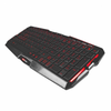 Teclado mars gaming mk0 - led lateral rojo - 10 teclas multimedia -