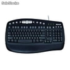 Teclado Microsoft PS2 Multimedia, Ingles, Negro