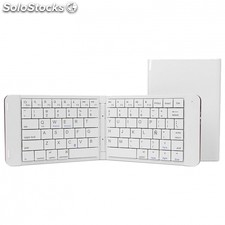 Teclado mini bluetooth leotec LERK04W blanco - plegable - 80 teclas - bateria