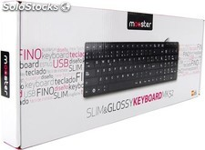 Teclado Mooster Slim and Glossy USB white MK52-W