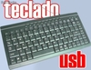 Teclados USB, ultra finos ideal para viajes, pc, portatiles