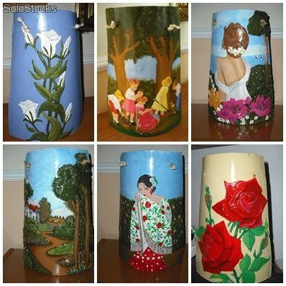 Tejas decoradas hechas a mano - Decorar tejas en relieve ...