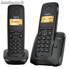 Telefono dect siemens gigaset a120 pack duo (base+sup) - negro - id.