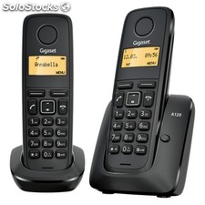 Telefono dect siemens gigaset A120 pack duo (base+sup) - negro - id. Llam./