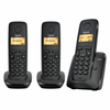 Telefono dect siemens gigaset a120 pack trio (base+2 sup) - negro -