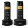 Telefono inalambrico dect philips d1302b pack duo negro - hq sound -