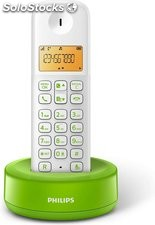 Telefono inalámbrico philips D130 color verde