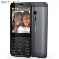 "Telefono movil nokia 230 dark silver - display 2.8""/7.12CM - camara vga - dual"