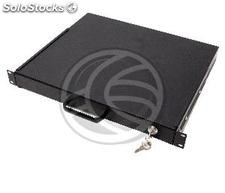 Telescopic tray 1U rack 370mm keyboard background (RZ31-0003)