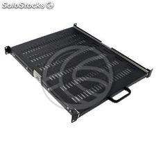 Telescopic tray 1U rack background with front and 550mm rear mounting