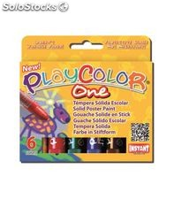 Tempera solida 6 und 10grs basic one playcolor 10811