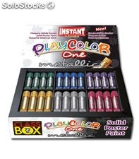 Tempera solida metalica 72 uds. 10g 6 colores playcolor dunsa