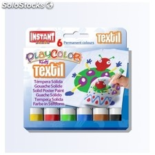 Témpera Sólida playcolor Textil 6 col