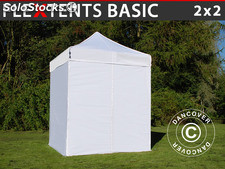 Tenda Dobrável FleXtents Basic, 2x2m Branco, incl. 4 paredes laterais
