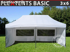 Tenda Dobrável FleXtents Basic, 3x6m Branco, incl. 6 paredes laterais