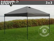 Tenda dobrável FleXtents Light, 3x3m, Cinzento