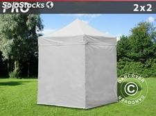 Tenda Dobrável FleXtents PRO 2x2m Branco, incl. 4 paredes laterais
