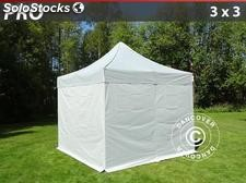 Tenda Dobrável FleXtents PRO 3x3m prata, incl. 4 paredes laterais