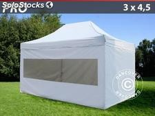 Tenda Dobrável FleXtents PRO 3x4,5m Branco, incl. 4 paredes laterais